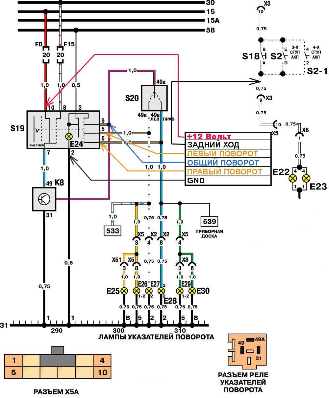 Схема подключения панели приборов нексия