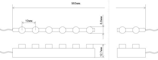 размеры светодиодной влагозащитной ленты DWF