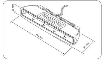 Фара дневного света Philips DRL 5x1W