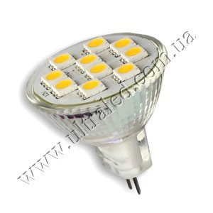 Лампа светодиодная MR11-10SMD-5050 (warm white)