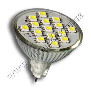 Лампа светодиодная MR16-15SMD 5050-220V (white)