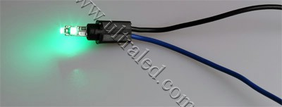 Лампа светодиодная подсветки приборной панели T5-3SMD-1210 (green)