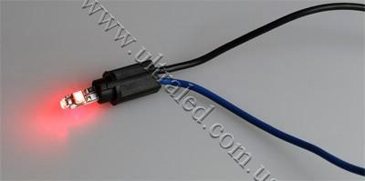 Лампа светодиодная подсветки приборной панели T5-3SMD-1210 (red)