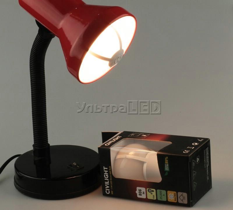 Лампа светодиодная CIVILIGHT E27-GLOBE 11W (warm white)