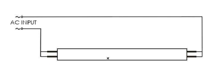 Эклектрическая схема подключения светодиодных ламп Т8