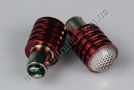 Лампа светодиодная СТОП-ГАБАРИТ 1157-5W CREE (red)