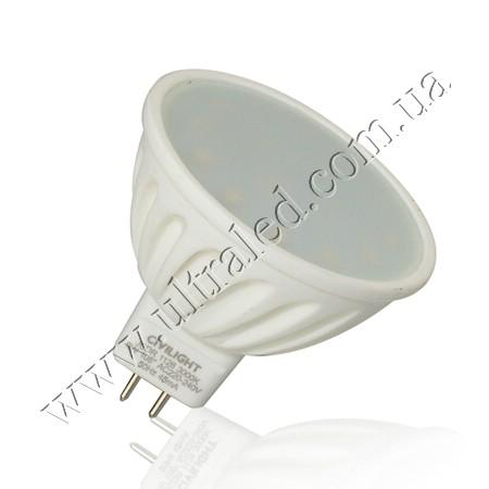 Лампа светодиодная CIVILIGHT MR16-6W-220V (warm white)