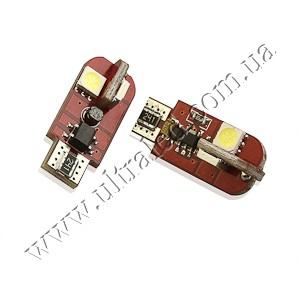 Лампа светодиодная передних габаритов с ОБМАНКОЙ T10-4SMD-EF2 G2