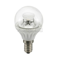 Лампа светодиодная CIVILIGHT E14-4W Flora clear (warm white) (P45 WP25V4)