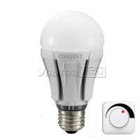 Лампа светодиодная CIVILIGHT E27-FLORA 10W Dimmable (warm white) (DA60 W2F60T10)
